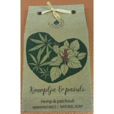 Natural handmade soap Hemp-patchouli