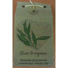 Natural handmade soap Clay and tea tree