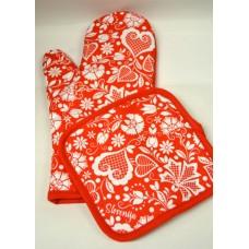 Set rokavica in prijemalka za vročo posodo a