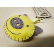 Keychain - Yellow Pig