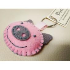 Keychain - Pink Pig