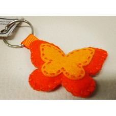 Keychain - Orange Butterfly
