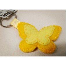 Keychain - Yellow Butterfly