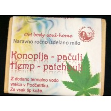 Natural handmade  hemp and patchouli soap