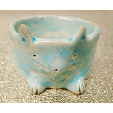 Ceramic jewelry bowl - cat