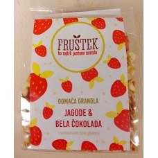 FRUŠTEK strawberries and white chocolate (mini)