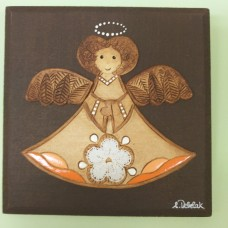 "Clay relief ""Angel"" -Medium (brown clay)"