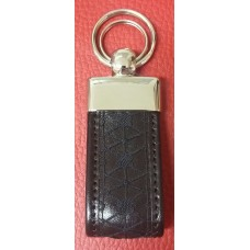 Key ring - leather and lace