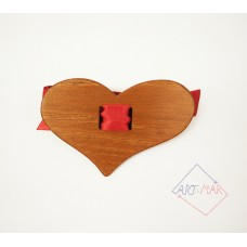 Wooden bow tie - heart