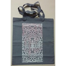 Textile bag with lace print