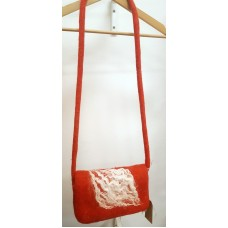 Red felted bag
