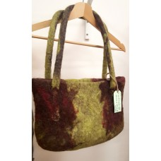 Felted bag green