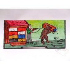Panjska končnica - mala (Medved ukrade panj)