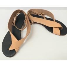 Women natur leather sandals