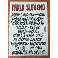 Postcard PARLO SLOVENO