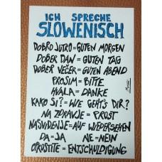 Postcard ICH SPRECHE SLOWENISCH