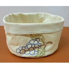 Textile bread basket (Grapes)