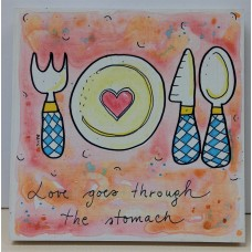 Painting- love goes through the stomach