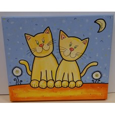Painting- Cat couple