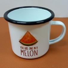 Enamelled pot Melon