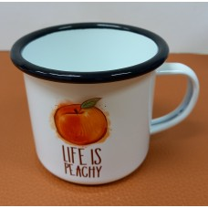 Enamelled pot Peach