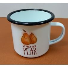 Enamelled pot Pear