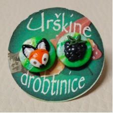Earrings Fox - grapes