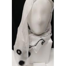 Nuno scarf black-white