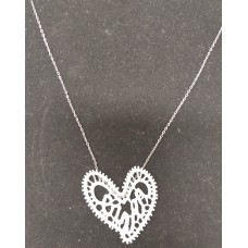 Necklace-lace heart