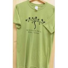 Men`s T-shirt- Green-Old vine