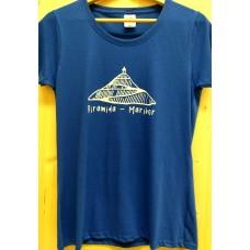 Men`s T-shirt blue-Pyramid